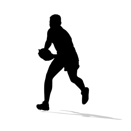 speedster: Rugby player running with ball in hands.