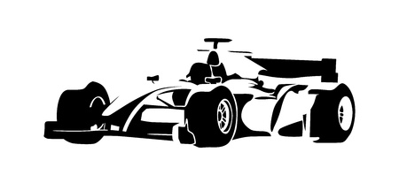 Formula racing car, abstract silhouette Illustration