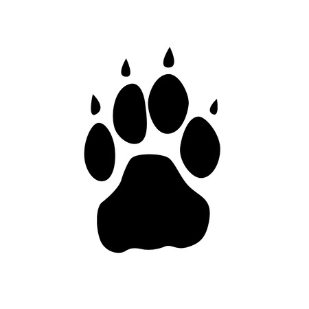 foot step: Animal foot step vector icon.