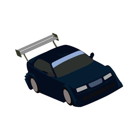 spoiler: Sports car, vector illustration Illustration