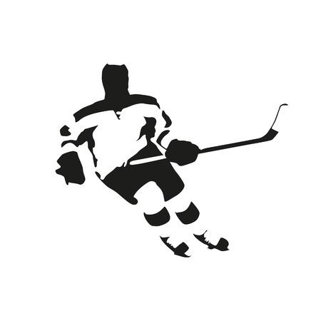 ice hockey player: Ice hockey player, vector illustration
