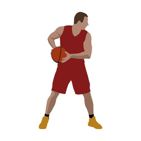 Basketball player, vector illustration Vektorové ilustrace