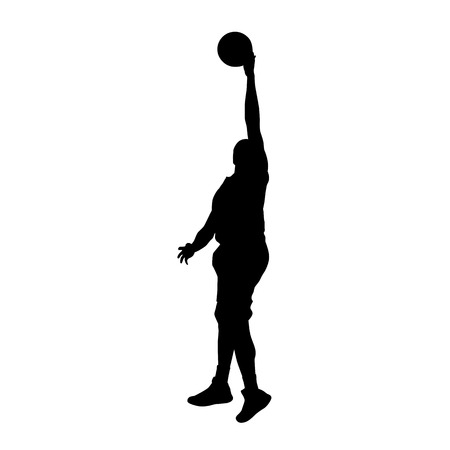 layup: Basketball player vector silhouette Illustration