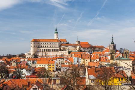 ミクロフ城、南モラヴィア、ボヘミア、チェコ共和国 写真素材