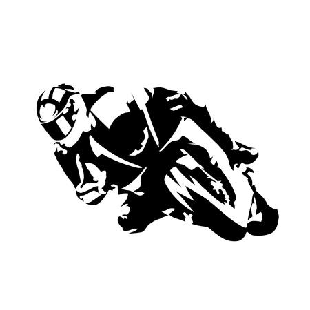 도로 오토바이 라이더, 추상적 인 벡터 실루엣