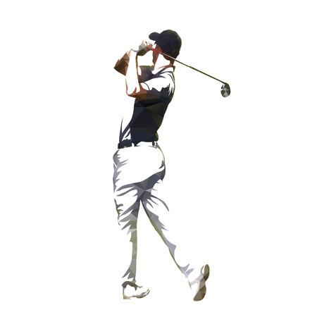 Golf, joueur, résumé, géométrique, vecteur, silhouette Banque d'images - 84178021