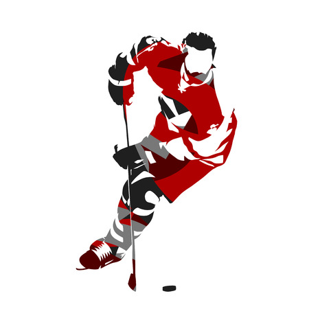 Ice hockey player isolated vector illustration