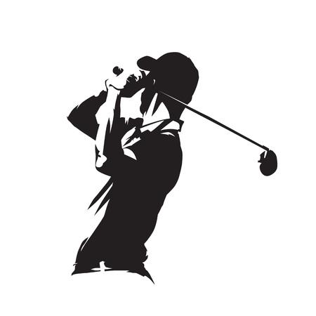 Golf player icon 일러스트