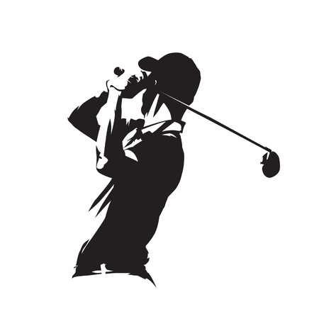 Golf speler pictogram Stock Illustratie