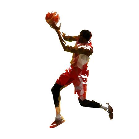 Basketball player, abstract vector polygonal silhouette