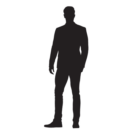 Business man silhouette standing