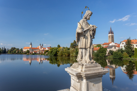 Telc, Czech Republic. Historic town in central Europe