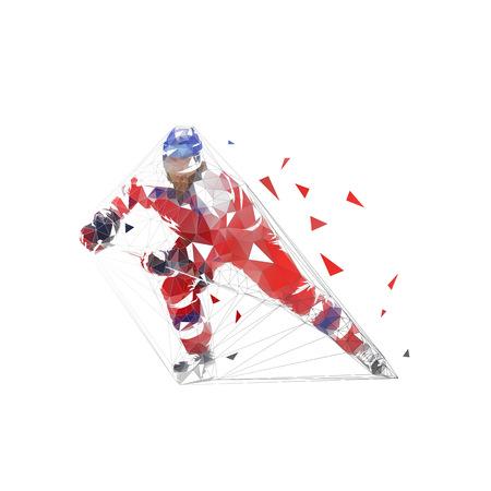 Ice hockey player, vector illustration