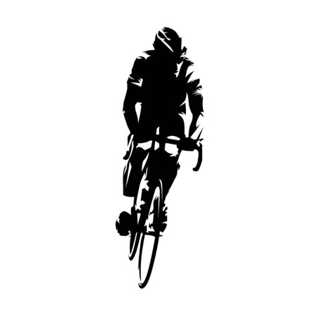 Cyclist riding bike. Vector Illustration Keywords: Summer sport Ilustracja