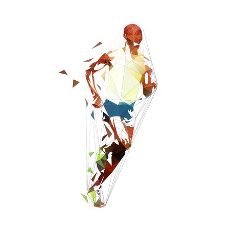 Marathon runner, ink drawing, isolated vector silhouette. Running man