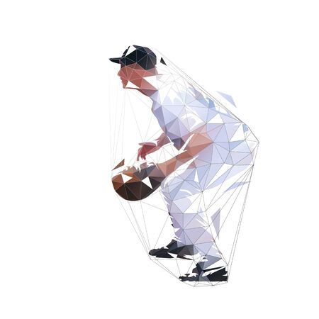 Vector Illustration Keywords: Baseball player Ilustracja