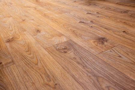 Vinyl floor detail, oak decor Stock Photo