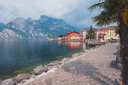 Torbole, Lake Garda. Summer in Italy