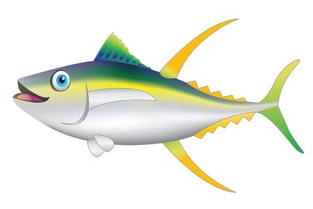 atun: pez amarillo  Vectores