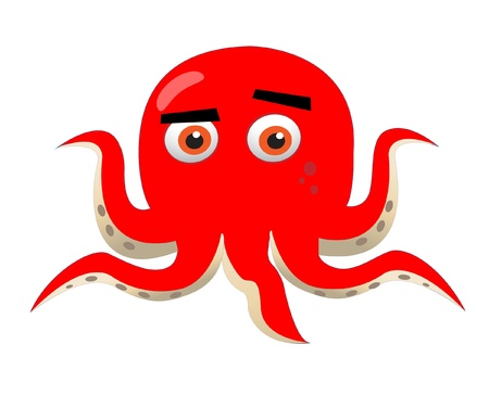 red octopus Stock Vector - 10446693