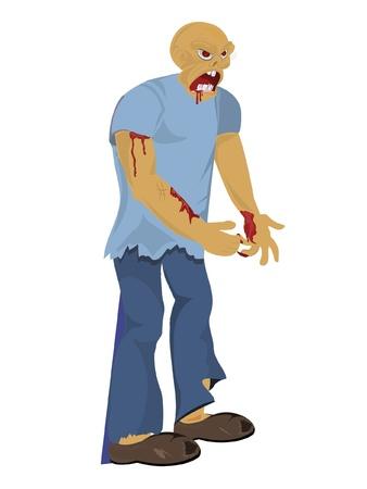 clipart frankenstein: zombie attack Illustration