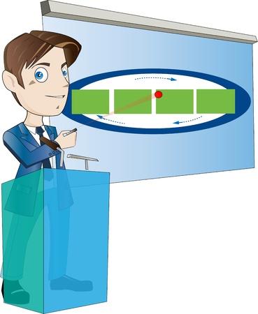 プレゼンテーションで使用するための事務員  イラスト・ベクター素材
