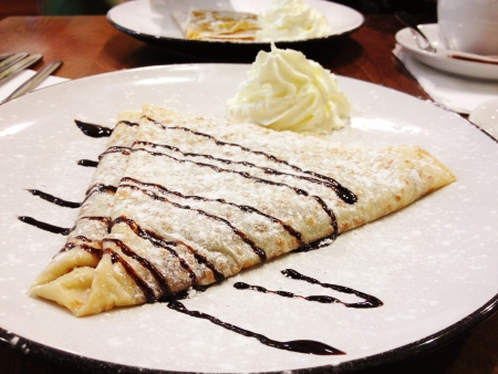Chocolate and Vanilla Crepe