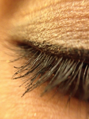 eye: Macro shot of eye lashes