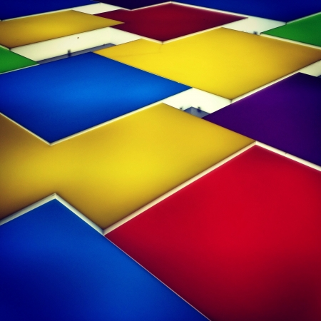 Colourful shapes in perspective