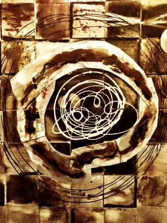 Abstract Art making geometric and organic shapes