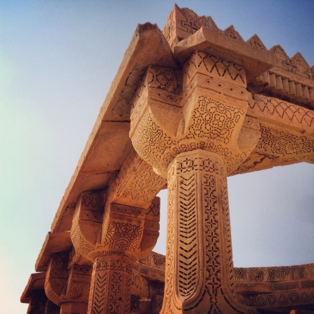 ���archeological site���: Integrate stone carvings in archeological site in Pakistan