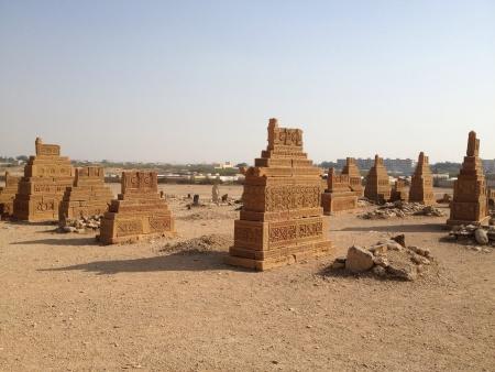 15th century Cemetery Chaukandi tombs in Sindh Pakistan