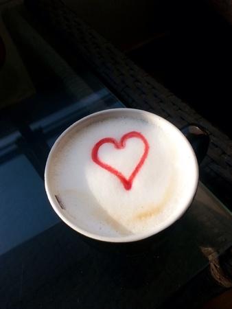 Heart shape on beverage  Stock Photo
