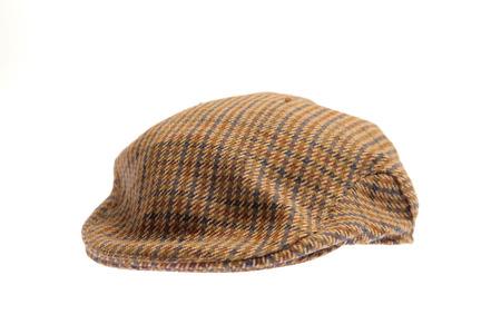 Wool tweed gentlemens cap Stock Photo