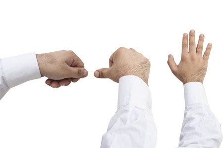 masculin: Different Hand Holding Movements Stock Photo