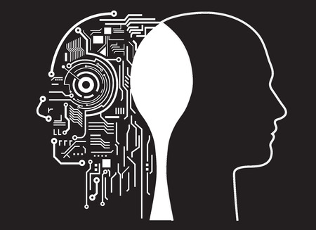 human intelligence fusion Illustration