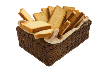 Rusks in a basket