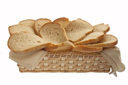 Bran bread in basket  photo