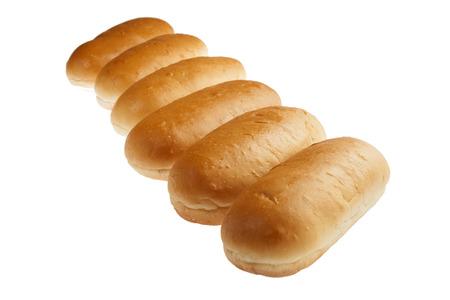 Hot dog bun rolls in perspective