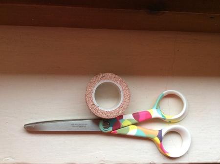 Scissor and tape