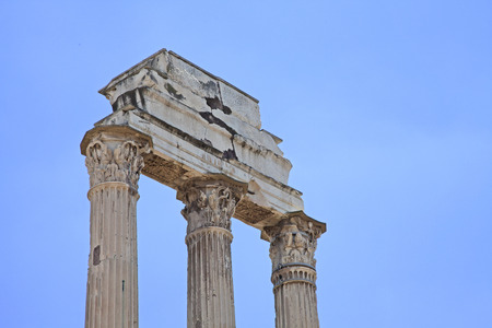 antiquity: Roman antiquity: Closeup of the Roman Forum in Rome, Italy
