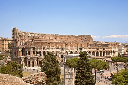 Colosseum, street view from the Palantine Hills