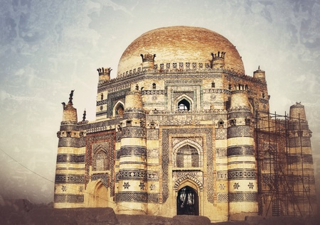 The Tomb of Bibi Jawindi is one of the five monuments in Uch Sharif, Punjab, Pakistan  Stock Photo