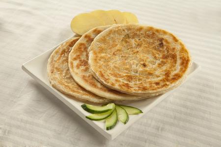 Potato puri paratha