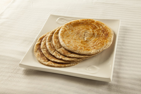 Bran Paratha, wheat plain roti