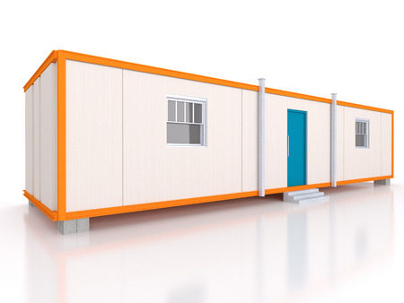 office building: Portable house and office cabins Stock Photo