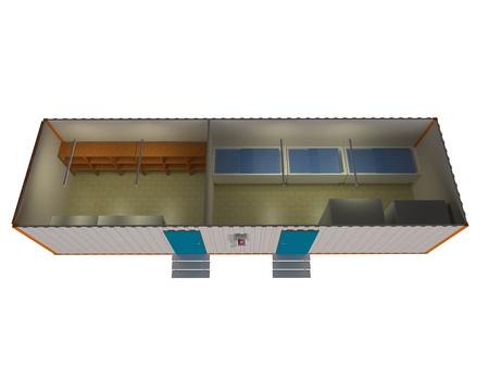 Portable cabin storage Stock Photo