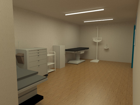 Clinic in 3D interior Stock Photo