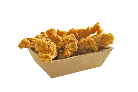 Fried Chicken Strips in a takeaway box