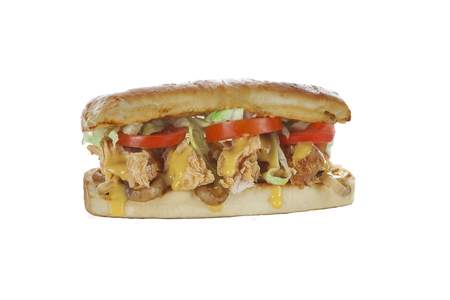 Fried Chicken hoagie sub sandwich